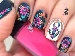 hibiscus flower anchor nails by the crafty ninja youtube