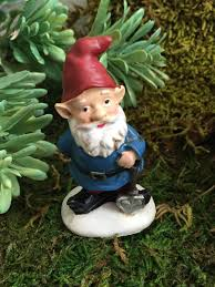 Gnome Garden Decor Mini Garden Gnome With Red Hat Blue Coat Figurine Home And