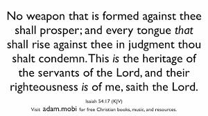 isaiah 54 17 christian scripture bible verse