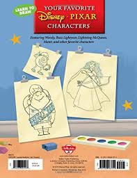 learn draw favorite disney pixar characters featuring