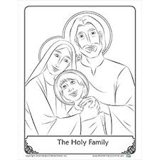 coloring holy family coloring pages