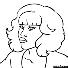 20 free printable nicki minaj coloring pages everfreecoloring com