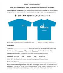 t shirt order form template 24 free word pdf format download