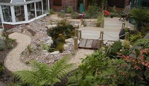 Sloped Backyard Landscape Ideas Sloping Garden Design Ideas Interior Design