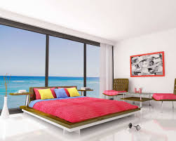 Bedroom Sofa Modern Simple Bedroom Decor With Nice Colorful Bed And Sofa