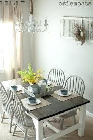 White Oak Dining Room Set - distressed white round dining table pedestal rustic set for sale