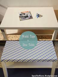 embellishing ikea diy with washi tape dorm furniture dorm and