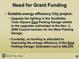 grants for lighting upgrades item 4d approve resolution no authorizing the filing of a project