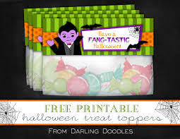 free printable halloween flyers free printable halloween treat bag toppers darling doodles