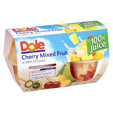 dole fruit bowls dole cherry mixed fruit bowl 4oz 4ct target