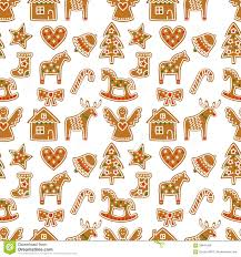 seamless pattern with christmas gingerbread cookies xmas tree