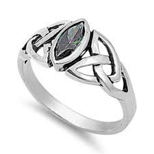 celtic knot ring celtic knot ring new 925 sterling silver marquise band ebay