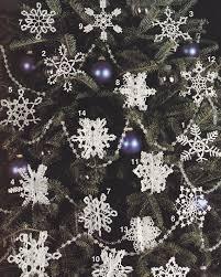 snowflakes crochet patterns tree