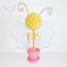 bumble bee lollipop topiary bee topiary babyshower