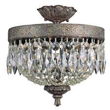 Flush Mount Mini Chandelier Bel Air Lighting Cabernet Collection 2 Light Patina Bronze
