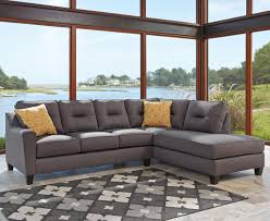 benchcraft kirwin nuvella sectional with sleeper sofa u0026 right