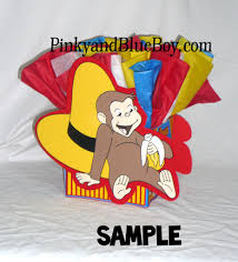 Curious George Centerpieces by Curious George Eating A Banana Birthday Centerpieces Banna U2026 Flickr