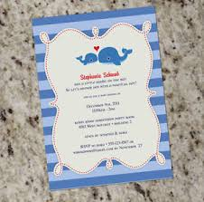 whale themed baby shower whale themed baby shower invitations free shipping