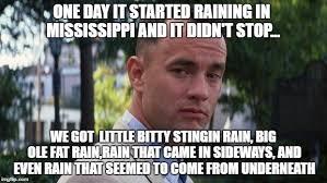 Forrest Gump Rain Meme - forest gump imgflip