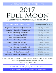 Ojai California Map 2017 Full Moon Schedule Meditation Mount