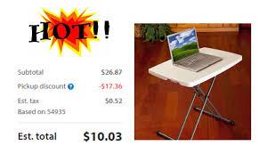lifetime 26 personal folding table walmart lifetime 30 personal folding table almond only 9 51 with