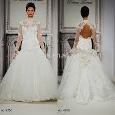 gorgeous 2015 lace mermaid wedding dress high neck sheer long