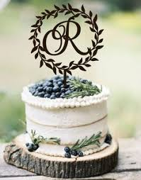 rustic monogram cake topper custom monogram wedding cake topper initial wooden topper rustic