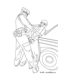 motorcycle police officer controlling speed traffic coloring pages