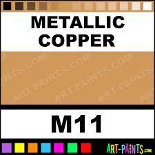 metallic copper metallic liners fabric textile paints m11