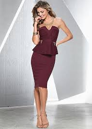 peplum dress strapless peplum dress in venus
