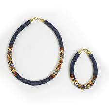 navy jewelry beaded maasai jewelry set navy jewelry sets fashion