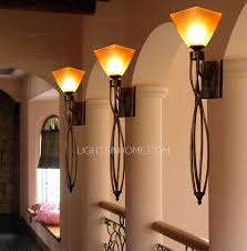 Rustic Sconce Rustic Wrought Iron Glass Shade Antique Wall Sconces