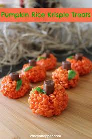 rice crispy treat pumpkins 6 treats my honeys place