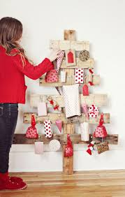 diy advent tree by a beautiful mess christmas ideas pinterest