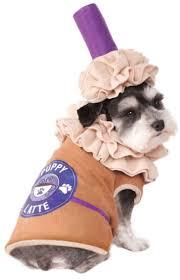 pet costumes rubie s iced coffee pet costume medium costumes dog supplies ebay