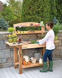 amazon com gsc potting bench with shelves garden u0026 outdoor