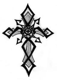 tribal cross design clipart best tattoos cross