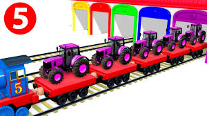 colors u0026 numbers for children to learn with thomas train vehicles