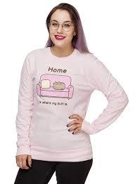 pusheen home is where my is sweatshirt thinkgeek