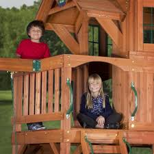 liberty ii wooden swing set swingsetmall com