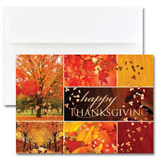 thanksgiving collage cards from the impressions blank