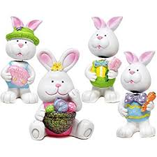 easter bunny decorations easter bunny figurine decor tabletopper