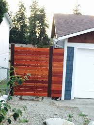 horizontal fence on a slope what u0027s the best design home