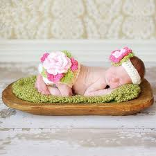photography props newborn baby girl crochet flower headwear photography props
