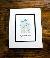 housewarming gifts for first home my first home new home housewarming gift personalized map