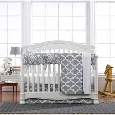 Gray Baby Crib Bedding Gray Trellis 4 Bumperless Crib Bedding Twinkle Twinkle