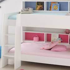 Parisot Tam Tam White Bunk Bed With Shelves - White bunk beds uk