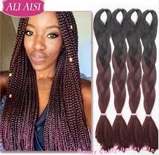 ombre kanekalon braiding hair 24 60cm ombre kanekalon braiding hair kanekalon jumbo braid hair