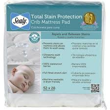 Sealy Crib Mattress Pad Sealy Total Stain Protection Crib Mattress Pad Waterproof Barrier