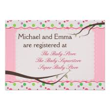 registry for baby shower baby shower registry invitations announcements zazzle